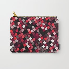 Pixel Grid Abstract Pattern Carry-All Pouch