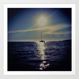 Casco Bay Sunset Art Print