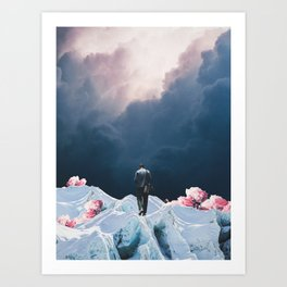 The Path to Solitude is full of Winter Roses Art Print