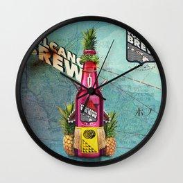 Volcano Brew - I lava you! Wall Clock