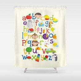Wedgienet's Alphabet Shower Curtain