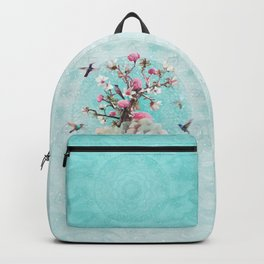 FLORAL HUMMINGBIRD Backpack