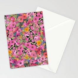 Pink Hollyhock Garden Stationery Cards
