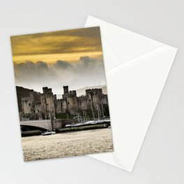 Sunset at Conwy Castle, North Wales Stationery Cards