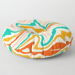 Warm abstract marble Floor Pillow