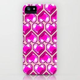 Pixel Hearts iPhone Case