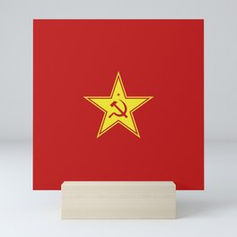 Red Star Hammer & Sickle Mini Art Print