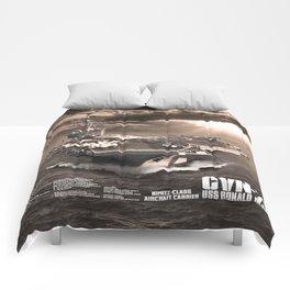 Aircraft carrier Ronald Reagan Comforters