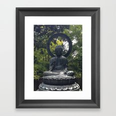 Photograph Contemplating Buddha Framed Art Print