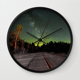 Northern Lights (Color) Wall Clock
