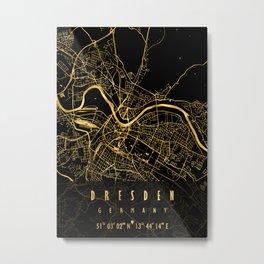 DRESDEN MAP GERMANY Metal Print