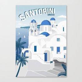 Vintage Santorini poster Canvas Print