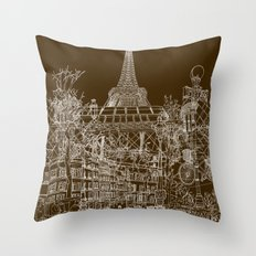 Paris! Throw Pillow