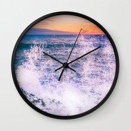 Surf Atlantic Rocky Coast Wall Clock