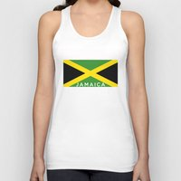 jamaica Tank Tops featuring Jamaica country flag name text by tony tudor