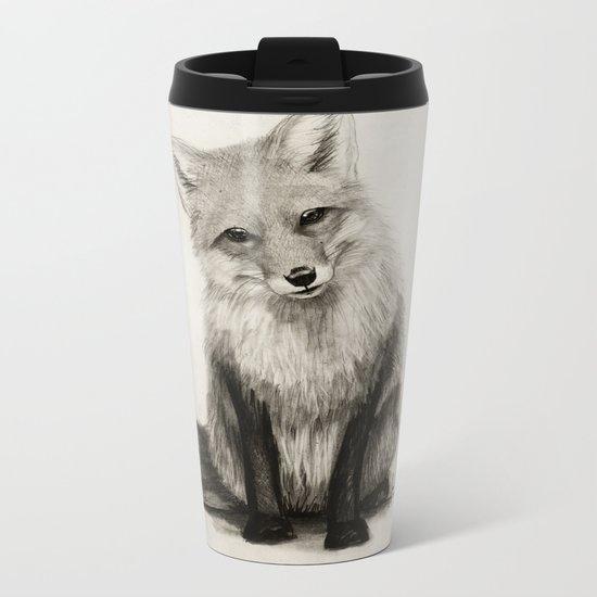 Fox Say What?! Metal Travel Mug