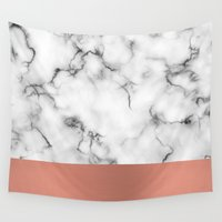 copper Wall Tapestries featuring Marble & copper by Will Wild