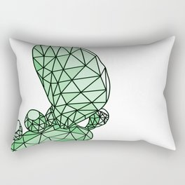 Geometric Prickly Pear Cactus I Rectangular Pillow