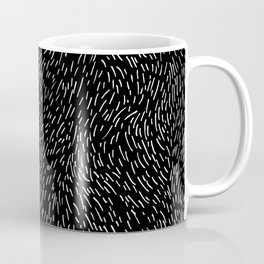 Dashed line drawn by pen Coffee Mug