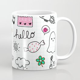 hand drawn doodle stlye illustration Coffee Mug