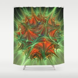 Sparked skid Shower Curtain