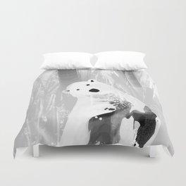 Unique Black and White Polar Bear Design Duvet Cover
