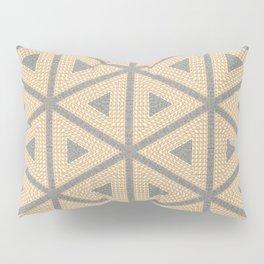 Textured Tile Triangle Pattern Design Pillow Sham