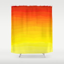 Red to Yellow Sunset Shower Curtain
