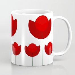 Simple red Tulips Coffee Mug
