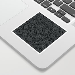 Ab Lace Black and Grey Sticker