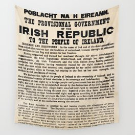 Irish Proclamation of Independence Wall Tapestry