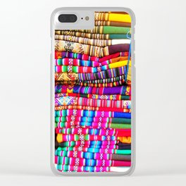 South American Colours Clear iPhone Case