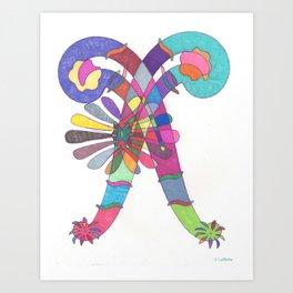 Mardi Gras Art Print