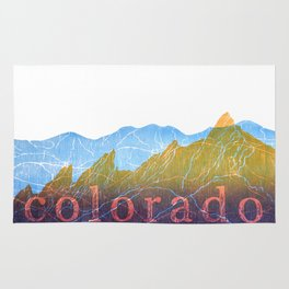 Colorado Mountain Ranges_Boulder Flat Irons + Continental Divide Rug