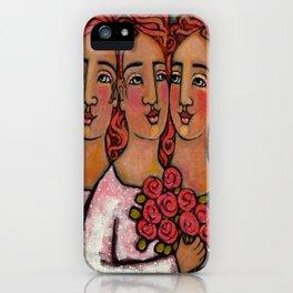 Trio Bridesmaids iPhone Case