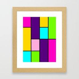 Bright Blocks Framed Art Print