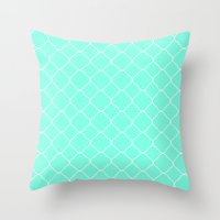 moroccan Throw Pillows featuring Mint Moroccan by Beautiful Homes