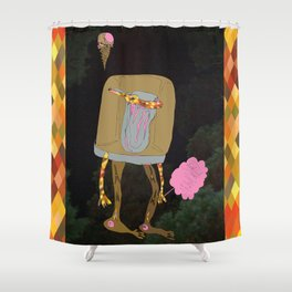 Silence Walks Shower Curtain