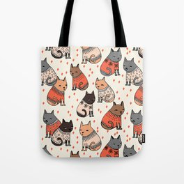 Sweater Cats - by Andrea Lauren Tote Bag