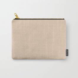 Pastel Brown Carry-All Pouch