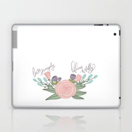 Live Simply Floral Art Laptop & iPad Skin