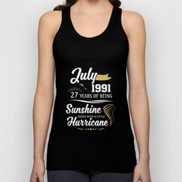 July 1991 Sunshine mixed Hurricane Unisex Tank Top