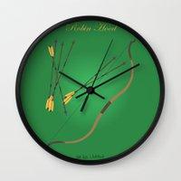 robin hood Wall Clocks featuring Robin Hood | Fairy Tales by Gabriele Omar Lakhal