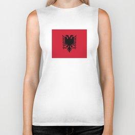 flag of Albania Biker Tank