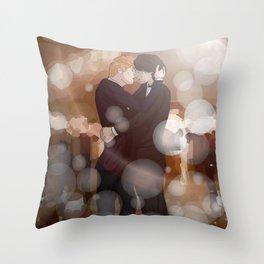 Dancing Snowbaz Throw Pillow
