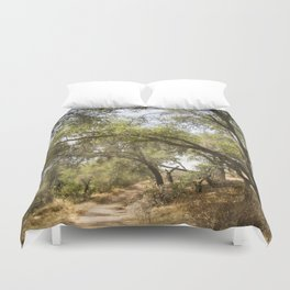 Follow The Tree Lined Trail Duvet Cover