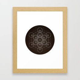Metatrons Cube Is Out Of Space Framed Art Print