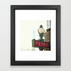 Metro in Paris Framed Art Print