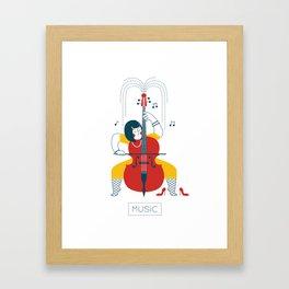 Cellist Framed Art Print