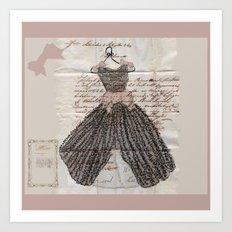 Blush Fancy Dress Art Print